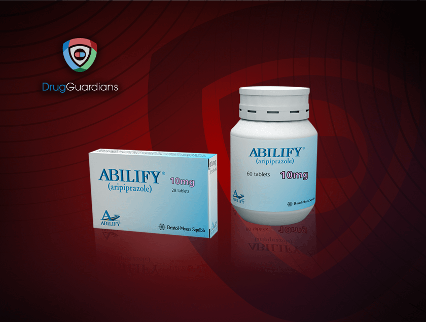 abilify bottle and pills